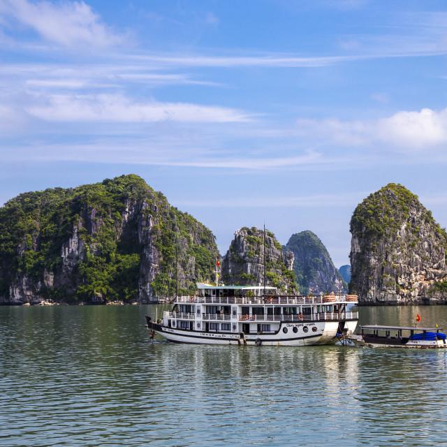 """""""Boat in Ha Long Bay"""" stock image"""