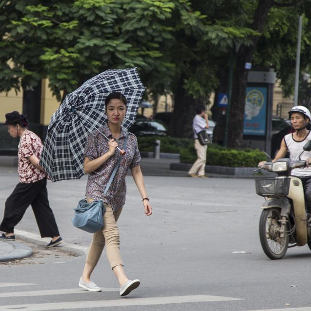 """""""Girl in Hanoi."""" stock image"""