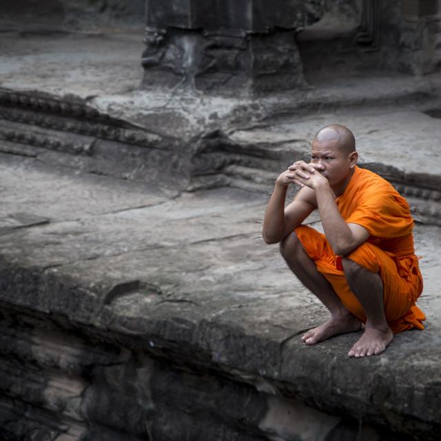 """Buddhist Monk"" stock image"