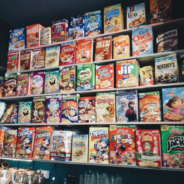 """Cereal Killer Cafe"" stock image"