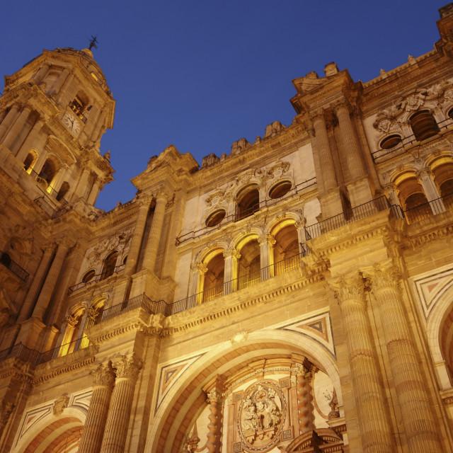 """""""Malaga Cathedral"""" stock image"""