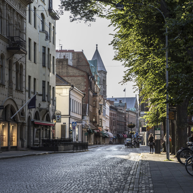 """""""A street in the morning sun"""" stock image"""