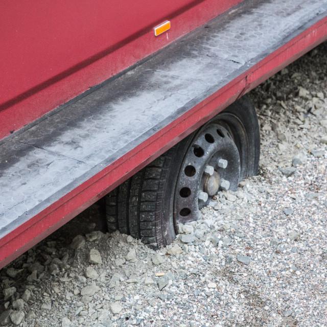 """wheel stuck"" stock image"