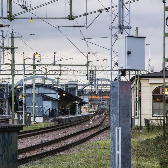 """railway tracks"" stock image"