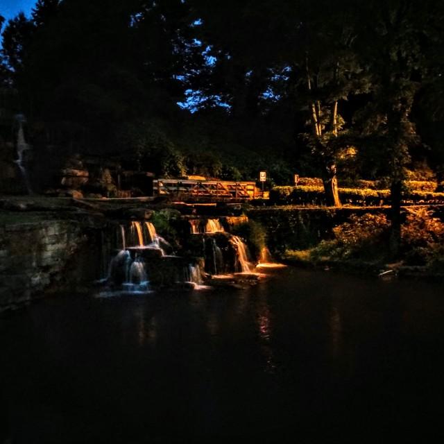 """""""Spring Park in the Dark"""" stock image"""