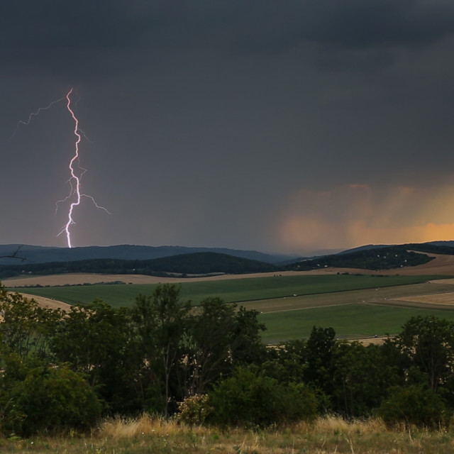 """""""Storm at Sunset"""" stock image"""