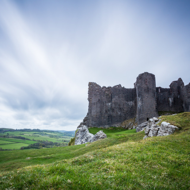 """Carreg Cennen Castle"" stock image"