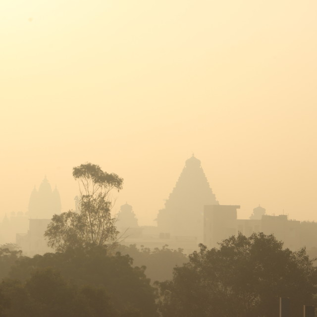 """""""Temple silhouette"""" stock image"""