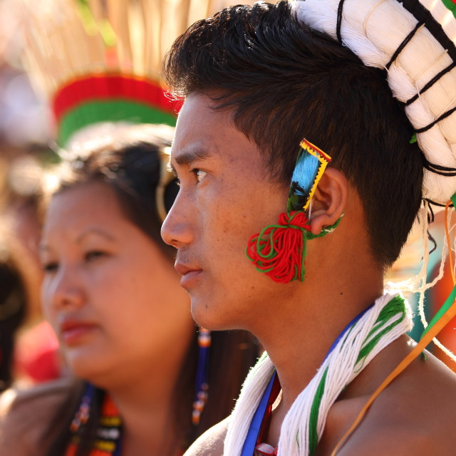 """Naga Tribes Man"" stock image"