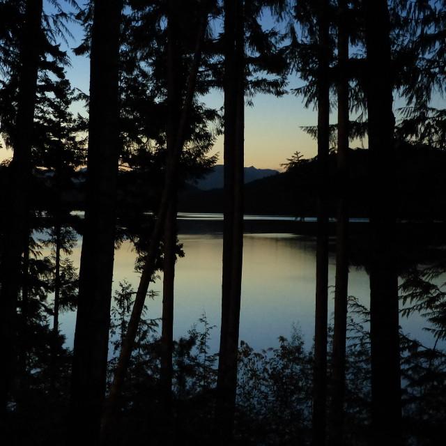 """Sunset in desolation"" stock image"