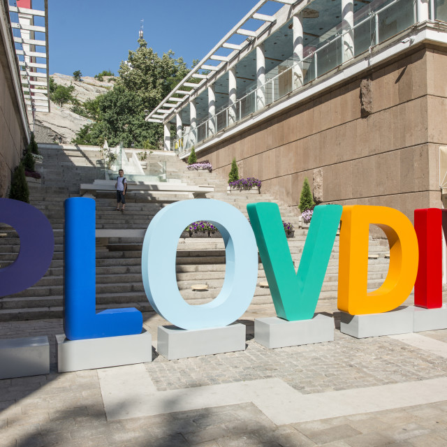 """The city of Plovdiv will be the European Capital of Culture in 2019"" stock image"