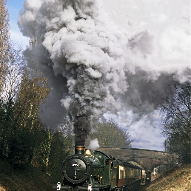 """Blasting through Leicestershire"" stock image"