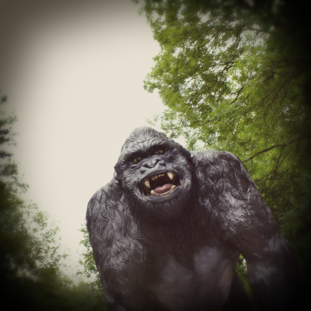 """""""Giant Model of a Gorilla in Woods"""" stock image"""