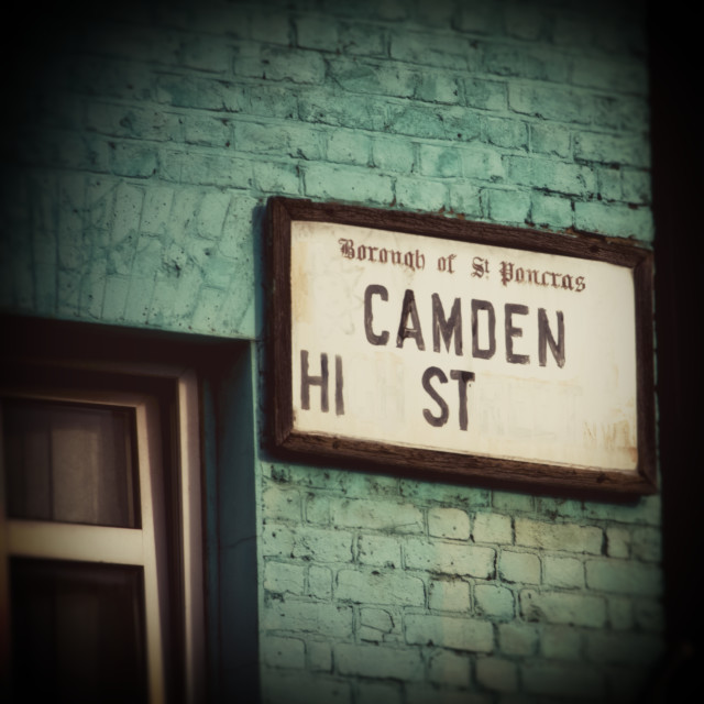 """Camden High Street Sign"" stock image"