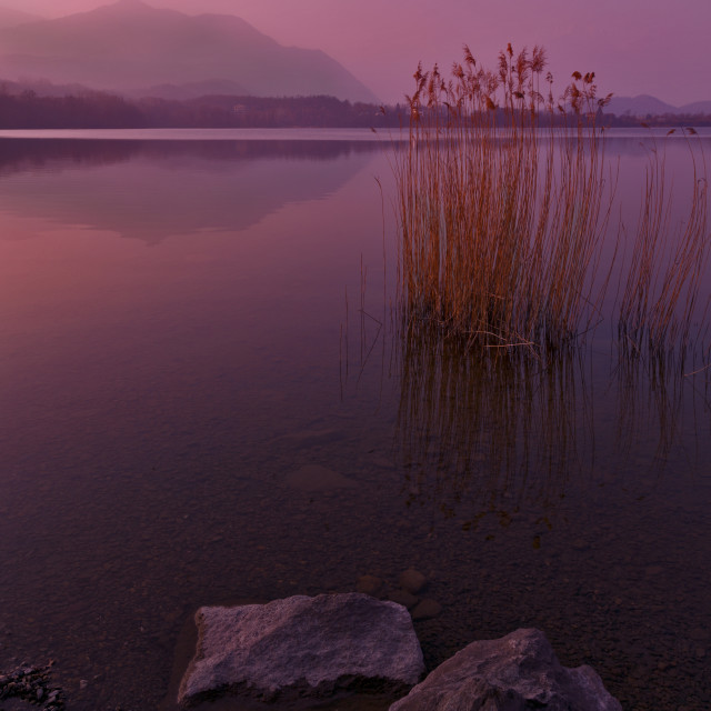 """Lake Avigliana"" stock image"