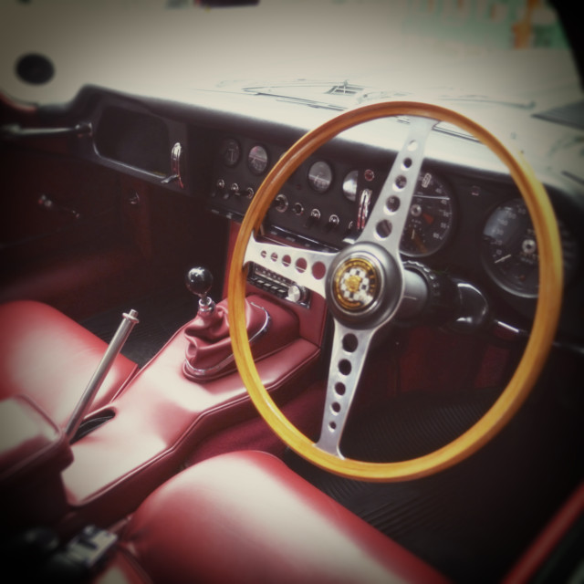 """""""Interior of a Porsche 911 Sports Car"""" stock image"""