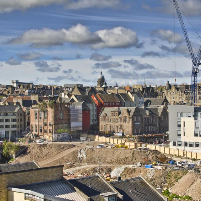 """Caltongate, Edinburgh"" stock image"