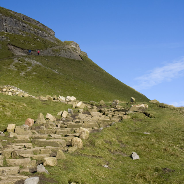 """""""Path way to Pen Y Ghent, Yorkshire dales."""" stock image"""