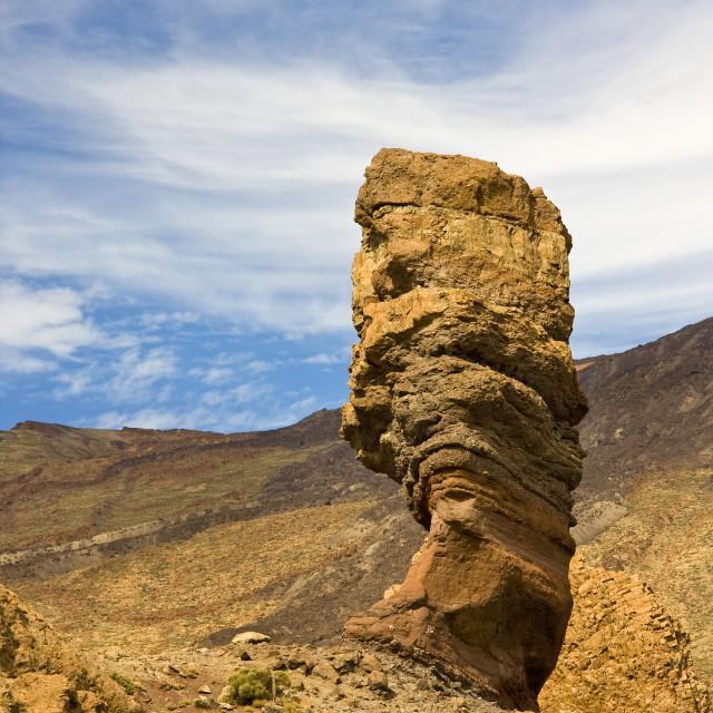 """""""Cinchado Rock, Tenerife."""" stock image"""