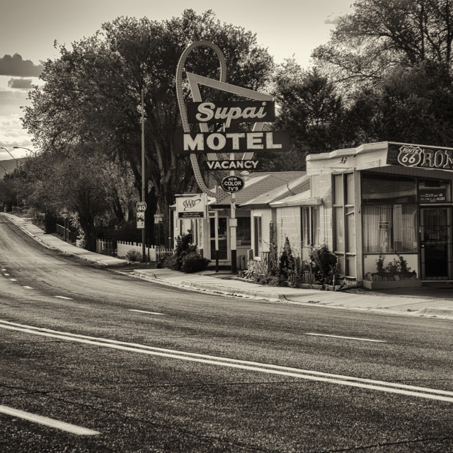 """""""Psycho along Route 66"""" stock image"""
