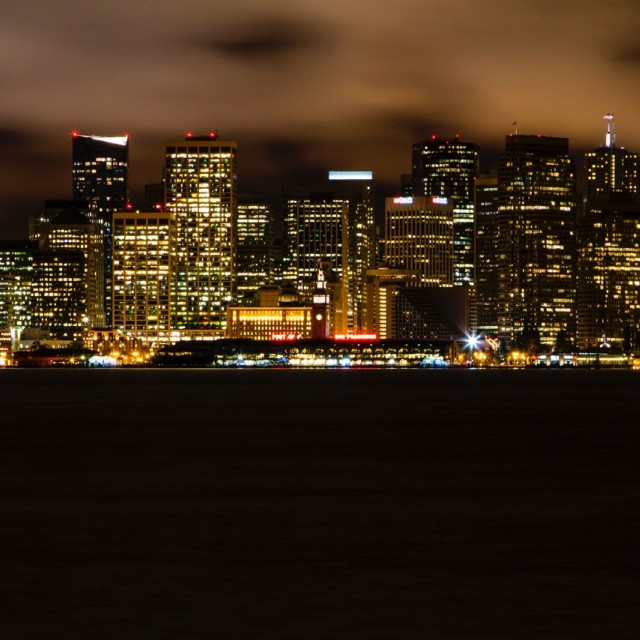 """San Francisco by night"" stock image"