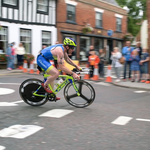"""Triathlon Nottinghamshire 2015"" stock image"
