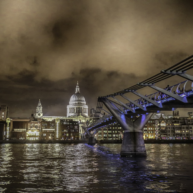 """Millenium Bridge"" stock image"