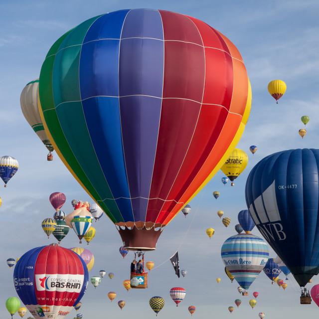 """Lorraine Mondial Air Balloons 2015"" stock image"