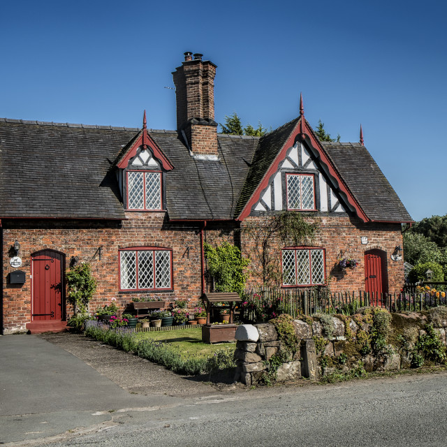 """A cheshire cottage."" stock image"