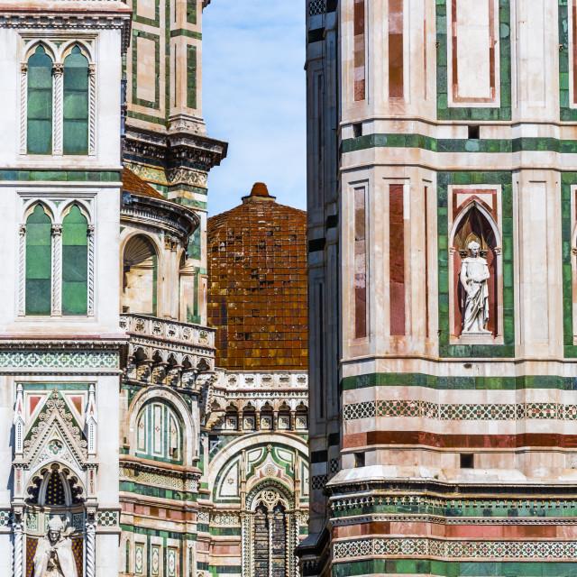 """""""Florence's Duomo detail"""" stock image"""