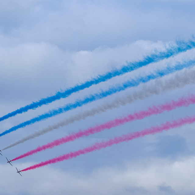 """""""Red Arrows at 2015 Sunderland International Airshow 7"""" stock image"""