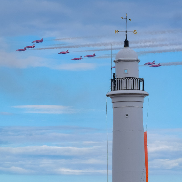 """""""Red Arrows at 2015 Sunderland International Airshow 3"""" stock image"""