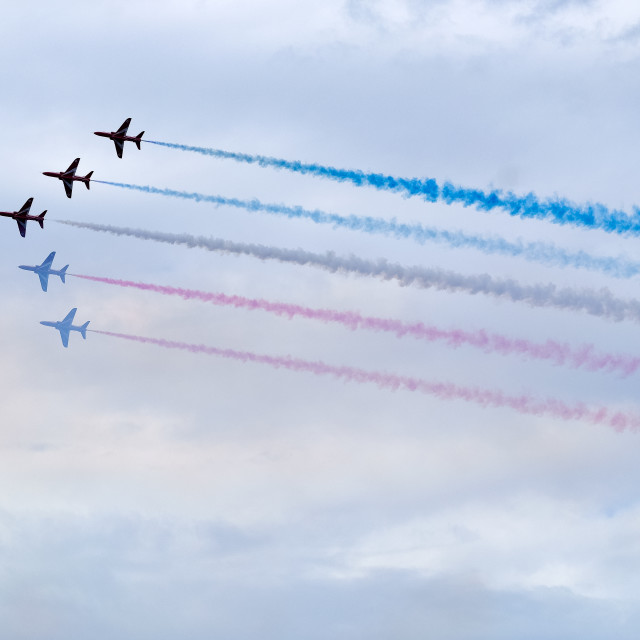 """""""Red Arrows at 2015 Sunderland International Airshow 5"""" stock image"""