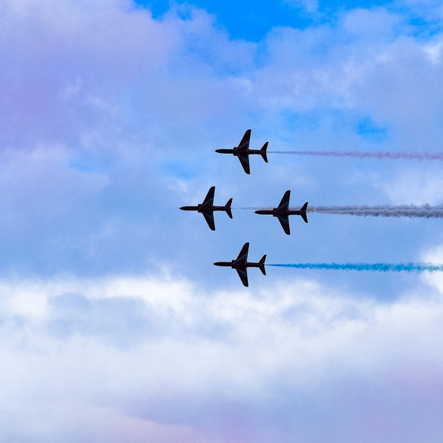 """""""Red Arrows at 2015 Sunderland International Airshow 11"""" stock image"""