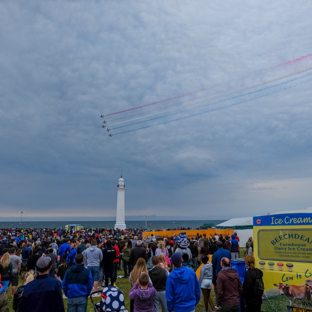 """""""Red Arrows at 2015 Sunderland International Airshow 18"""" stock image"""