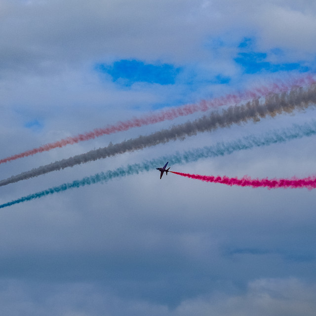 """""""Red Arrows at 2015 Sunderland International Airshow 12"""" stock image"""