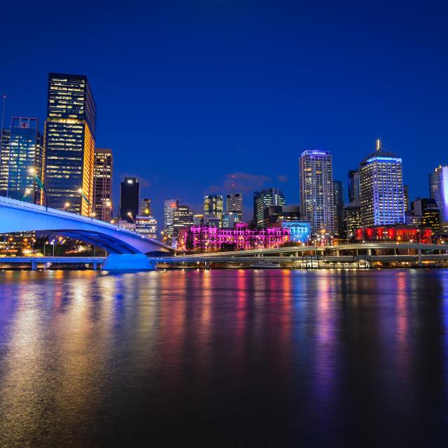"""Brisbane City Colours"" stock image"