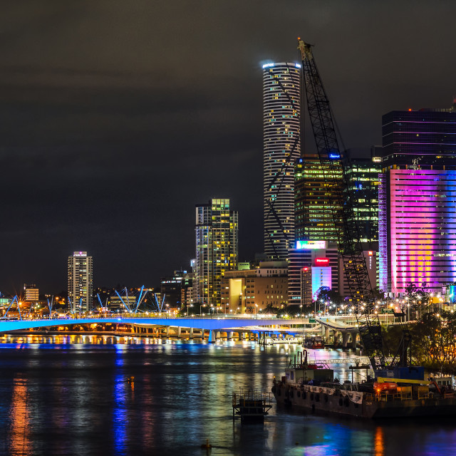 """Brisbane Panorama"" stock image"