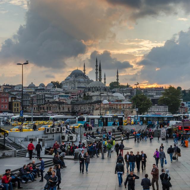"""""""Yeni Camii Sunset"""" stock image"""