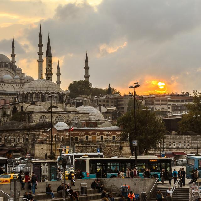 """""""Yeni Camii Sunset 2"""" stock image"""