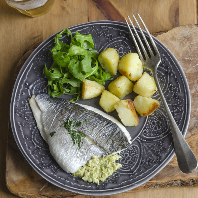 """Grilled sea bream"" stock image"