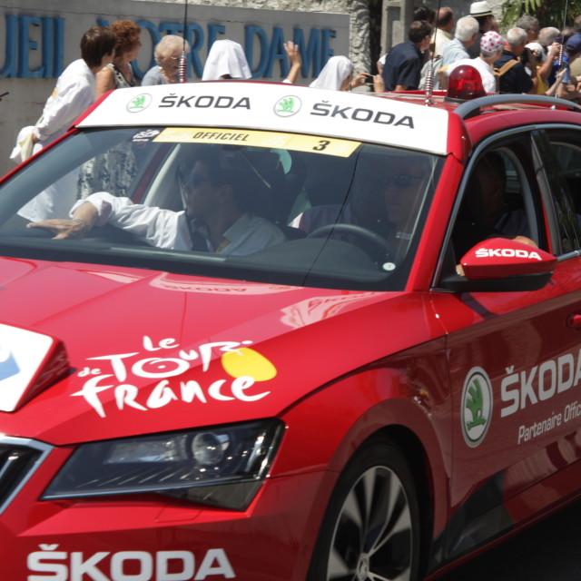 """""""Lourdes04 Tour de France"""" stock image"""