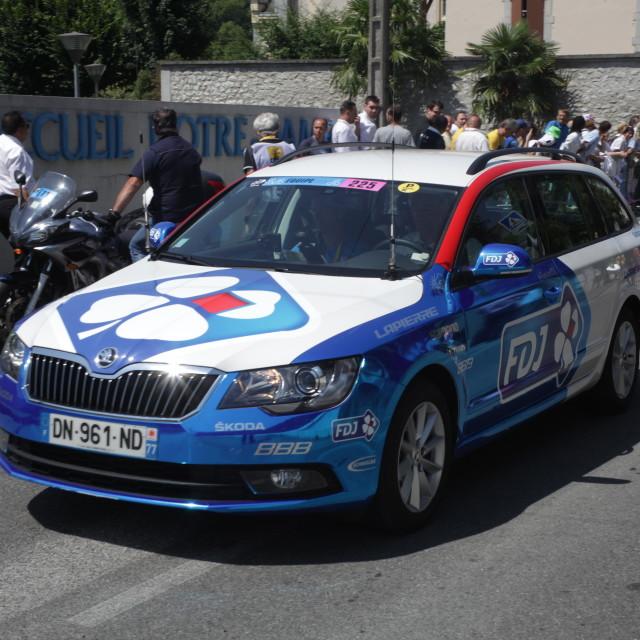 """""""Lourdes01 Tour de France 2015"""" stock image"""
