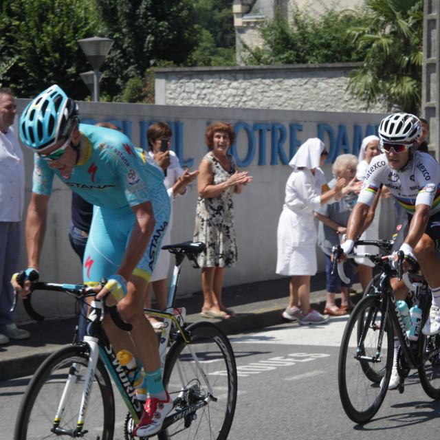 """""""Lourdes07 Tour de France 2015"""" stock image"""