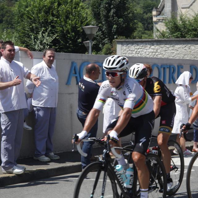 """""""Lourdes08 Tour de France 2015"""" stock image"""