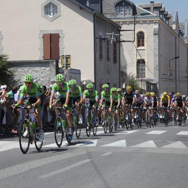 """""""Lourdes11 Tour de France 2015"""" stock image"""