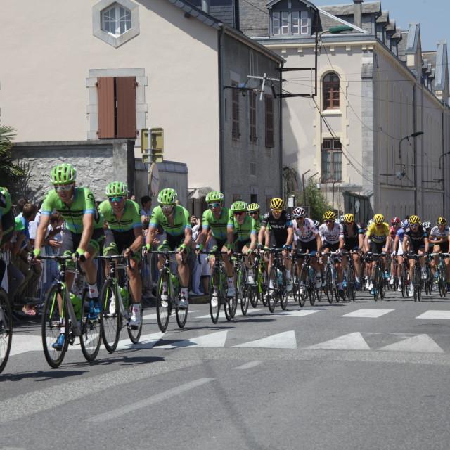"""""""Lourdes12 Tour de France 2015"""" stock image"""