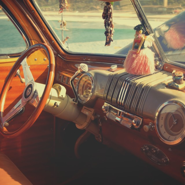 """Vintage Car Dashboard"" stock image"