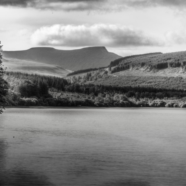 """Penyfan behind Resevoir"" stock image"