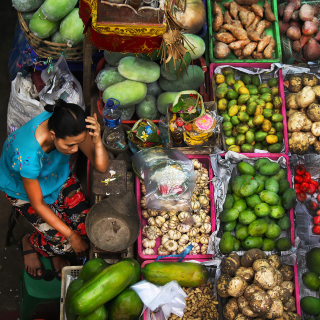 """Traditional Market in Bali,Indonesia"" stock image"